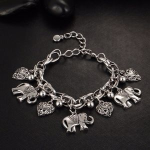 NEW_elephant heart charm bracelet